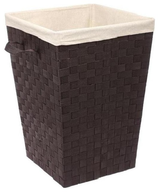 Woven Strap Hamper With Liner.