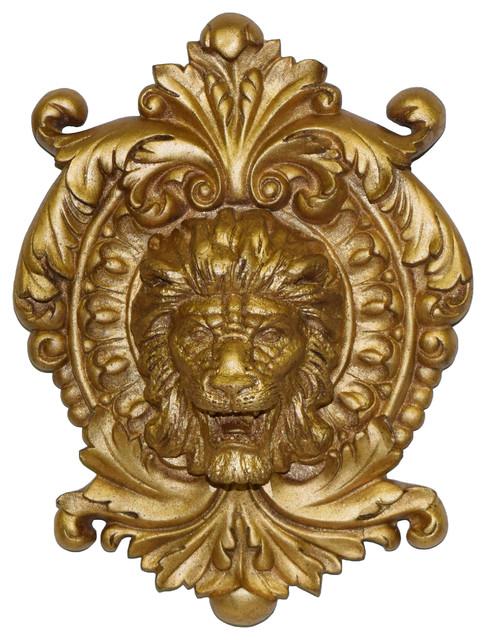 Lion Medallion Plaque.