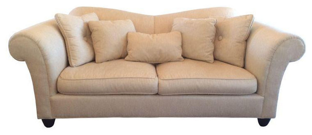 Barbara Barry High Back Rolled Arm Sofa From Baker 5 400 Est Retail 2 900