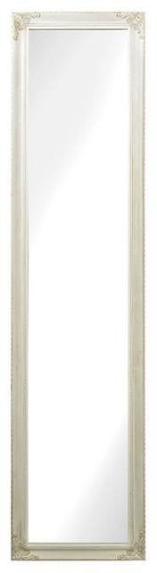 Masalia Floor Mirror, Antique White.