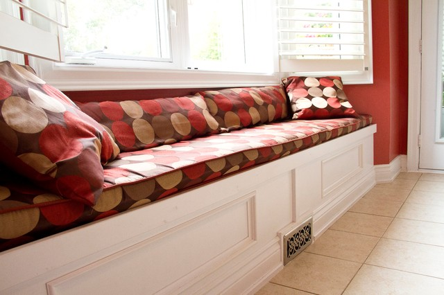 Bay Window Built -in Bench traditional