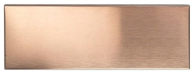 2 X6 Metal Subway Tile Copper