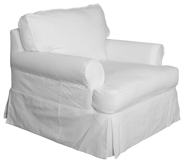 Slipcover Only for Horizon Chair | Cotton White