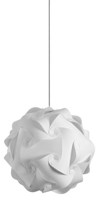 Globus 1-Light Round Pendant, White.