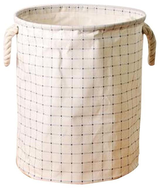 Cotton Linen Waterproof Laundry Basket, 9.