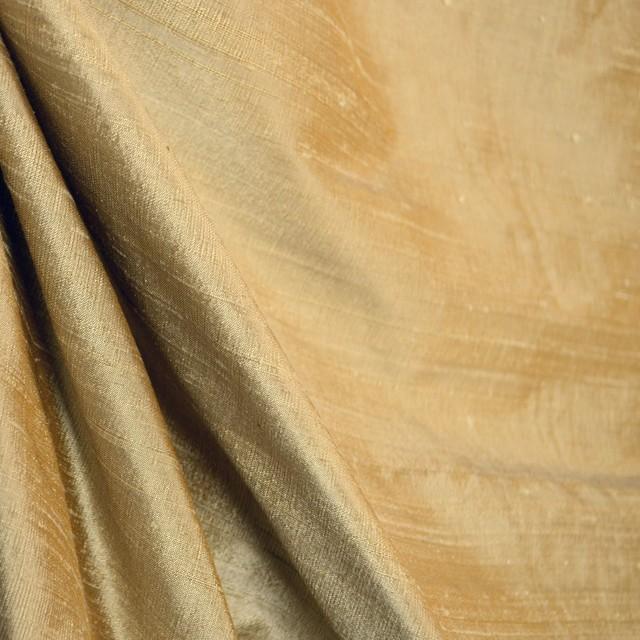 Soft gold silk curtain fabric AC103 Almond - Traditional - Drapery ...