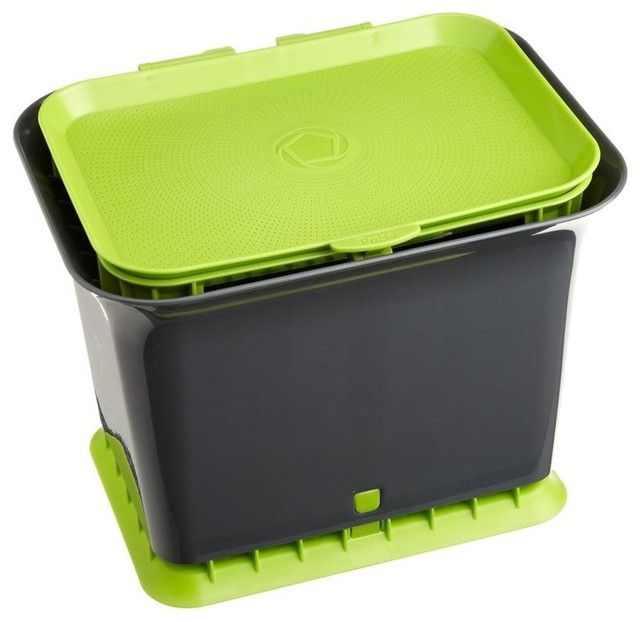 Fresh Air Kitchen Compost Collector Composting Bin Contemporary Bins By Hearts Attic