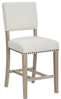 Carson Counter Stool, Elite Espresso Bonded Leather, Linen