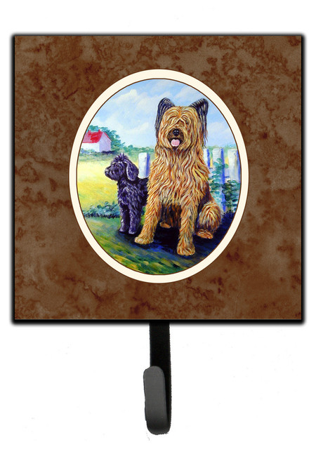Briard Leash Key Holder Contemporary Wall Hooks By The Store