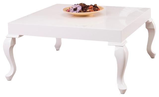 Beau Lukens High Gloss White Lacquer Coffee Table
