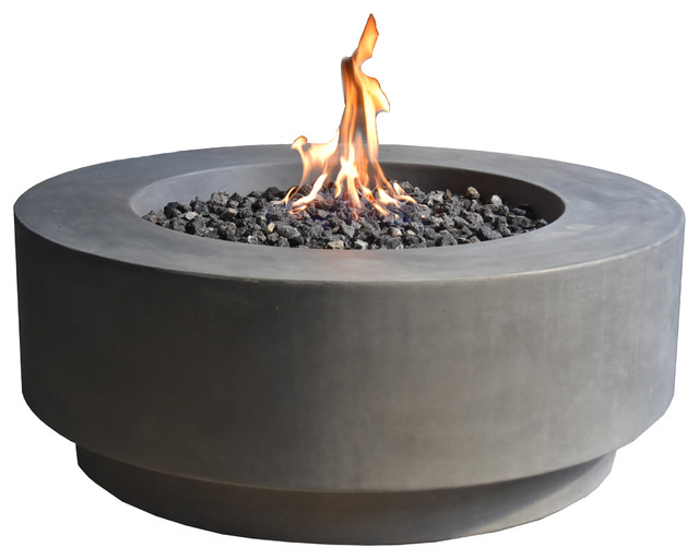 Gravelstone Round Fire Table Transitional Fire Pits