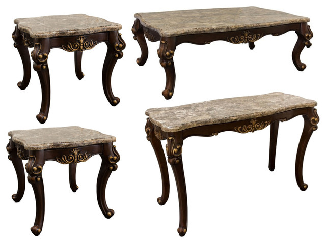 Netherlands Coffee Table Sofa Table And End Tables 4 Piece Set Victorian Coffee Table