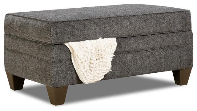 Simmons Upholstery Albany Slate Storage Ottoman