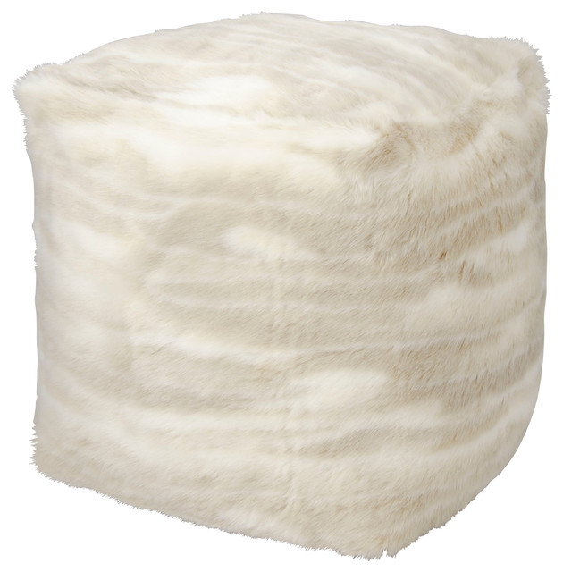 6a75c2a1d2 Kathy Ireland Home Faux Fur Pouf - Contemporary - Floor Pillows And Poufs -  by Nourison