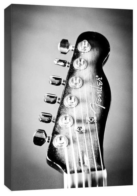 """Electric Guitar Headstock"" Photograph"