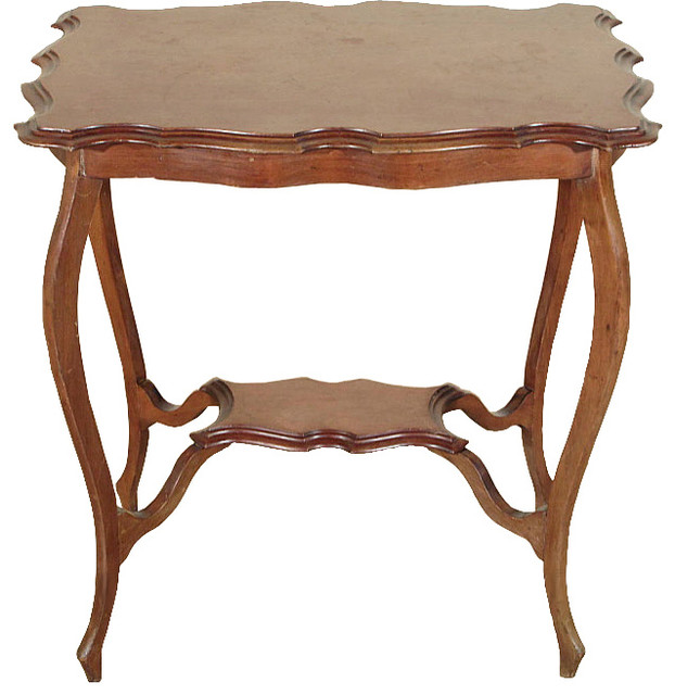 Consigned Antique Mahogany Edwardian End Side Table C1910