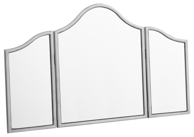 Chamberlan Trifold Mirror Contemporary Wall Mirrors Elegant Lighting Chamberlan Trifold Mirror Wall Mirrors Houzz
