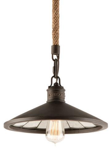 Brooklyn Pendant Light Bronze industrial-pendant-lighting  sc 1 st  Houzz & Troy Lighting F3144 Brooklyn 1 Light Industrial Pendant ... azcodes.com