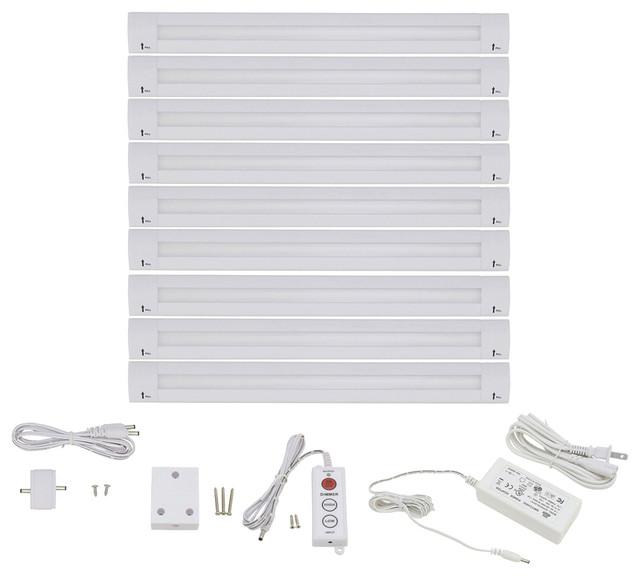 """Lightkiwi Lilium 12"""" Warm White Modular LED Under Cabinet Lighting, Pro Kit - Contemporary ..."""