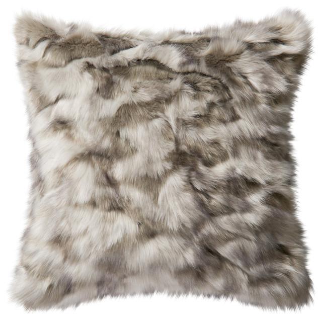 Loloi Contemporary Acrylic Pillow Cover, Gray, 22  x22