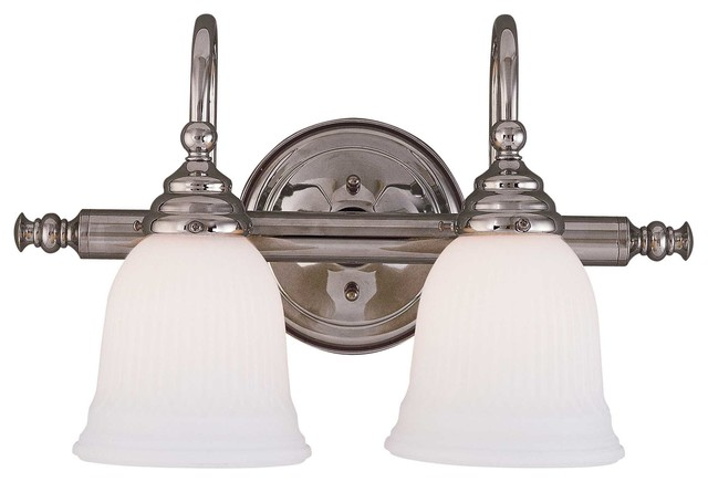 Bathroom Vanity Lights Traditional : Brunswick 2 Light Bath Bar - Traditional - Bathroom Vanity Lighting - by Savoy House