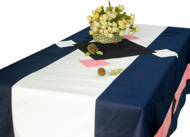 Rectangle Tablecloth Canvas Table Cloth Geometric Patterns Table Cover  Contemporary Tablecloths