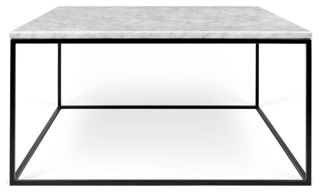 """Gleam 30""""x30"""" Marble Coffee Table."""
