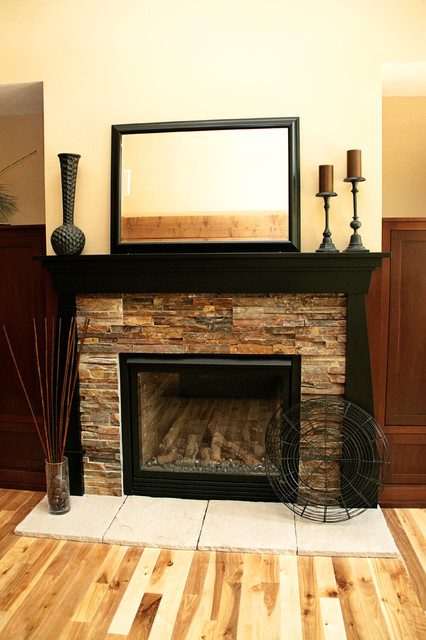 Fireplace for Dark fireplace mantel