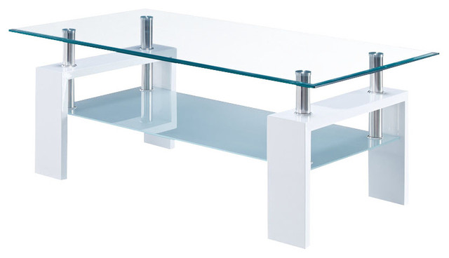 Great Empire Glass Coffee Table Contemporary Coffee Tables
