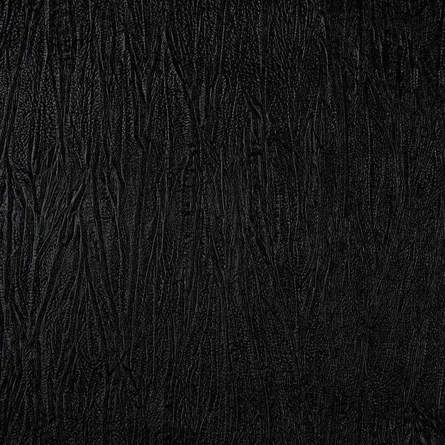 Black Textured Upholstery Faux Leather By The Yard - Contemporary - Upholstery Fabric - by ...