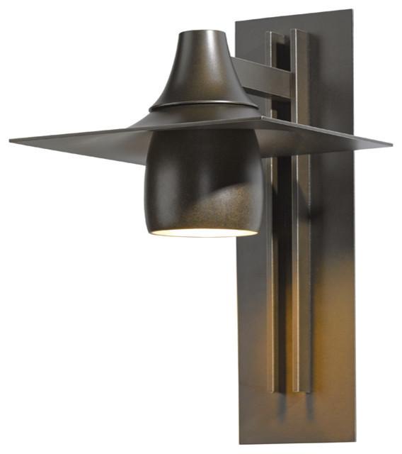 Hubbardton Forge 306567 1 Light Hood Medium Dark Sky Outdoor Sconce Craftsman Outdoor