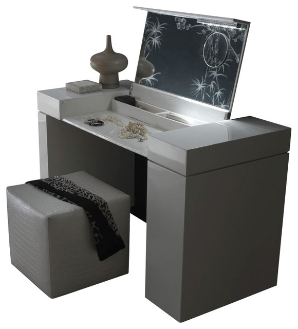 Nightfly Dressing Table White modern bedroom and makeup vanities  Modern Bedroom Makeup Vanities by
