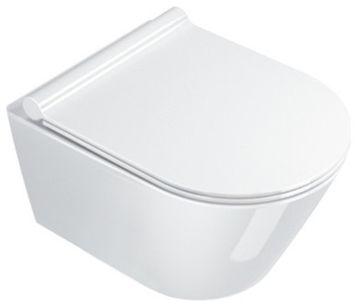 New Zero 50 cm Wall Hung WC, White Gloss