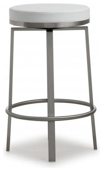 Pratt Steel Counter Stool Set Of 2 Transitional Bar