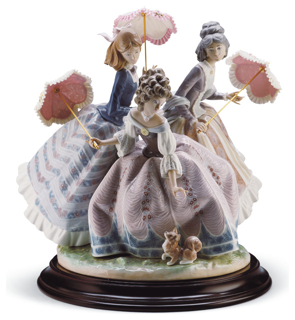 Lladro Three Sisters Figurine Contemporary Decorative Objects And Figurines By Biggs Ltd