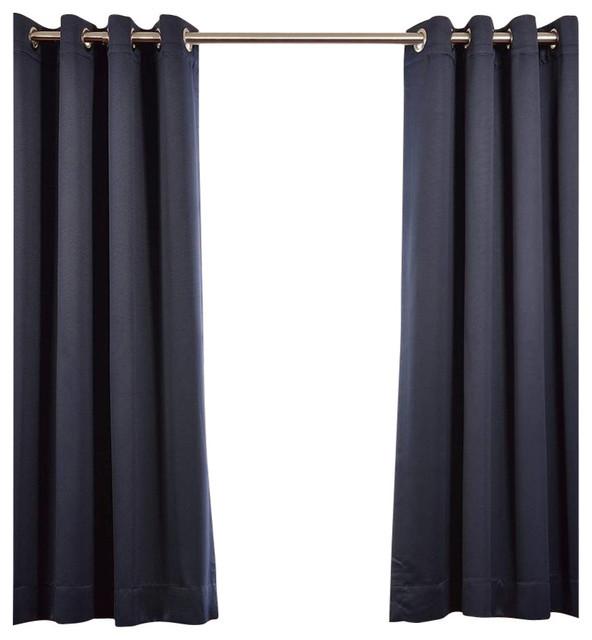 """Eclipse Grommet Blackout Curtain, Set Of 2, 50""""x108""""."""