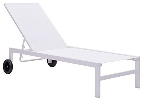 Castle Peak Outdoor Double Chaise Lounge Contemporary Outdoor