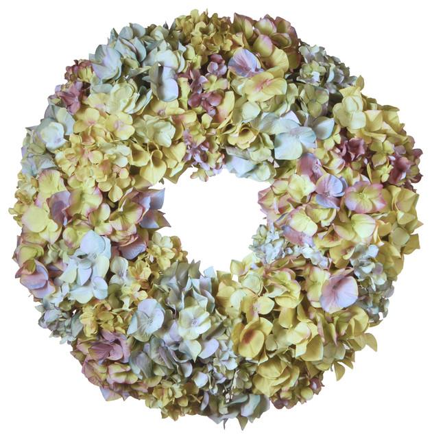 18 Mixed Hydrangea Wreath.