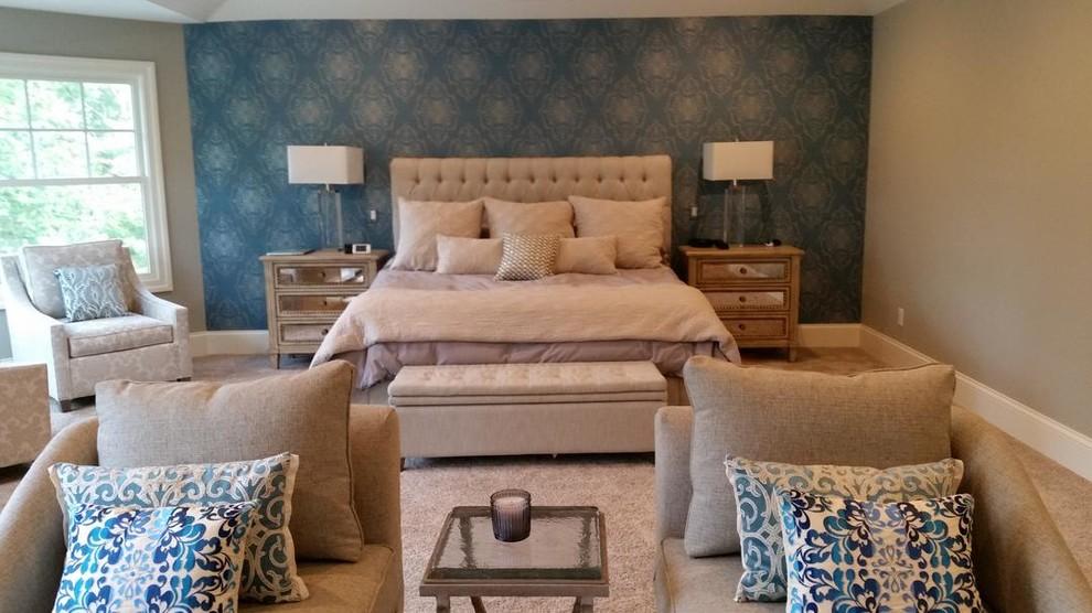 Bloomfield Hills Master Bedroom Wallpaper Accent Wall
