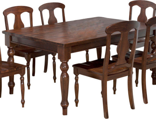 Jofran 733 66 Urban Lodge Rectangle Leg Dining Table In Rustic Traditional