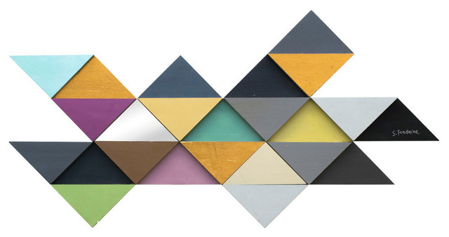 """tremulous Triangle"" Wall Decor. -1"