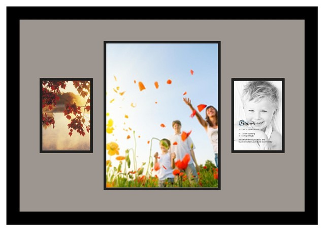ArtToFrames Collage Photo Frame  with 1 - 11x14 and 2 - 5x7 Openings
