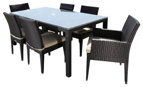 How Is The Glass Top Attached To The Wicker Table?