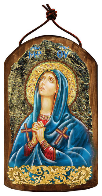 Icon Maria Magdalena Wooden Ornament Traditional Christmas Ornaments By G Debrekht