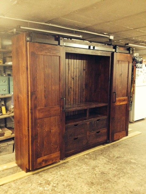 Barn Door Entertainment Cabinets - Farmhouse - Entertainment Centers And Tv Stands - by ...