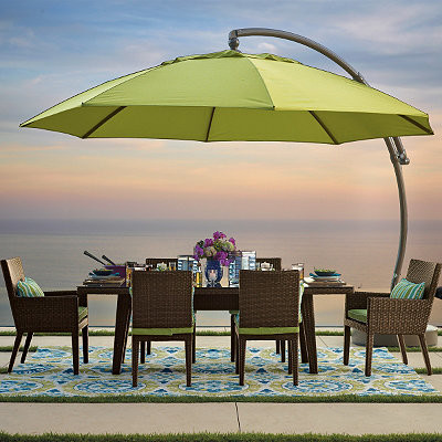 13 Ft Side Mount Patio Umbrella Traditional Outdoor Umbrellas By Frontgate