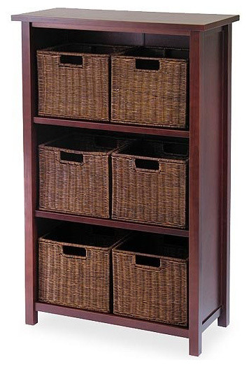 Winsome Wood Milan 7-Pc Cabinet/shelf With Baskets; 6 Small.
