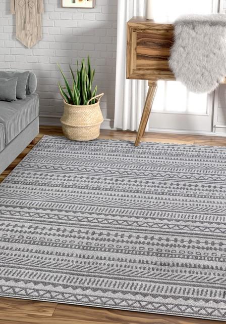 Well Woven Verona Easton Vintage Modern Geometric Grey Area Rug Scandinavian Area Rugs By Well Woven