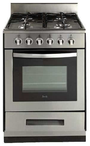 Avanti 24 Deluxe Gas Range Elite Series Black Stainless Steel Oven