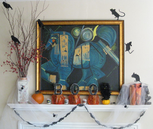Budget-Friendly DIY Project: Halloween-Inspired Mantel